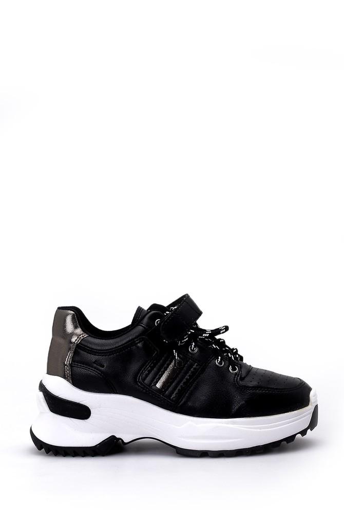Siyah Kadın Yüksek Tabanlı Sneaker 5638055700
