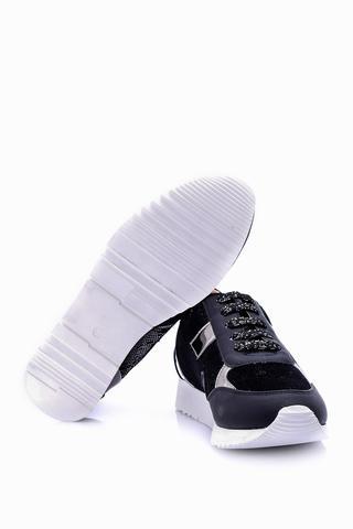 Kadın Gümüş Detaylı Ayakkabı