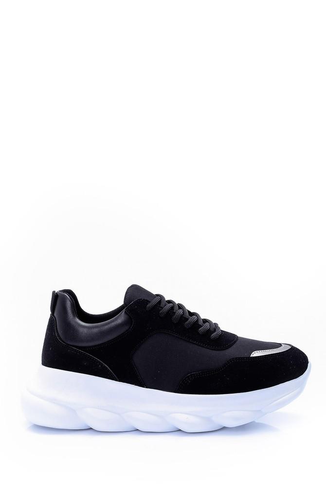 Siyah Kadın Yüksek Tabanlı Sneaker 5638062080