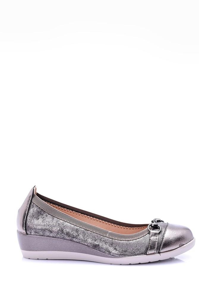 Gri Kadın Dolgu Topuklu Ayakkabı 5638002189