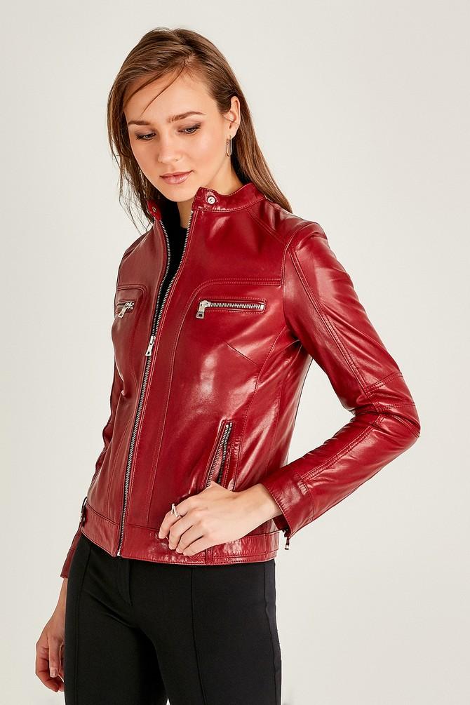 5638062196 Mystery Kadın Deri Ceket
