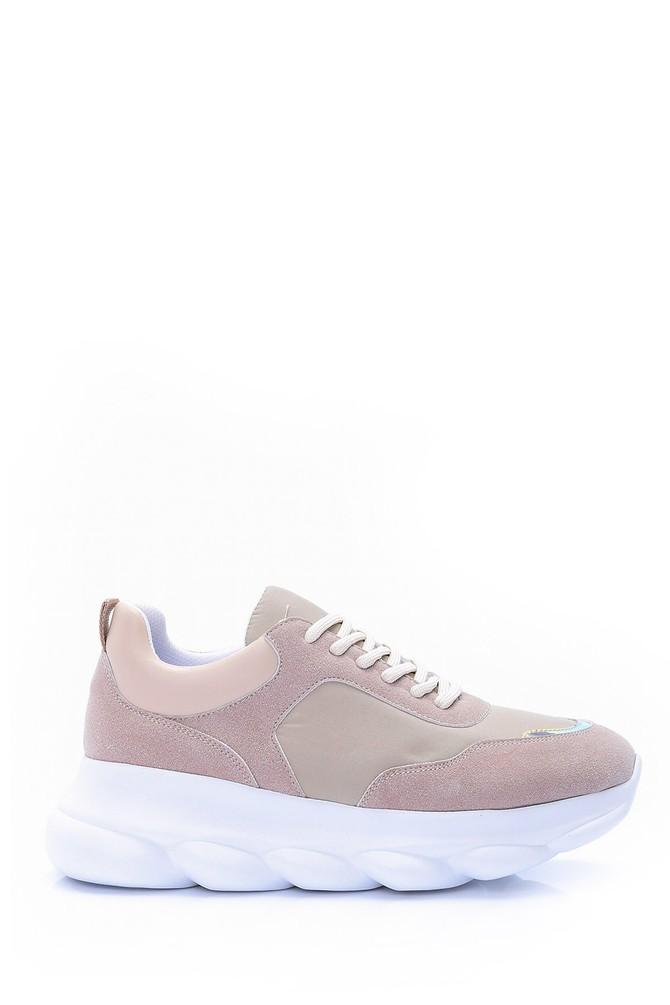 Bej Kadın Yüksek Tabanlı Sneaker 5638062082