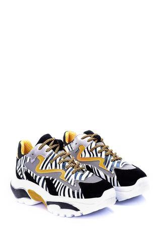Kadın Yüksek Tabanlı Süet Sneaker