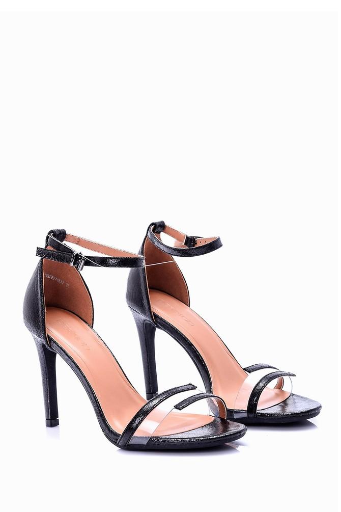 5638004019 Kadın Şeffaf Detaylı Topuklu Ayakkabı