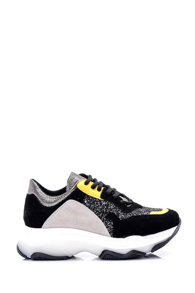 Siyah Kadın Yüksek Tabanlı Sneaker 5638062069