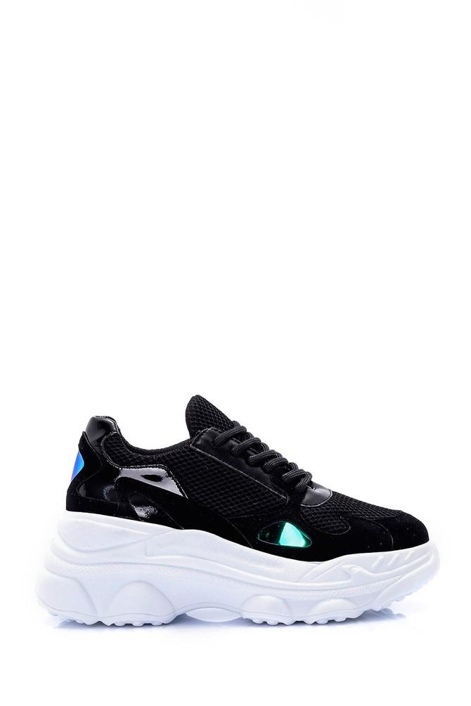 Siyah Kadın Yüksek Tabanlı Sneaker 5638062048