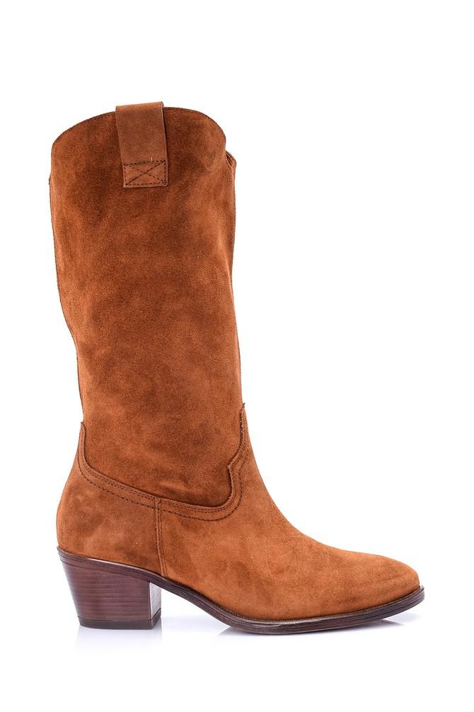 Kahverengi Kadın Süet Deri Çizme 5638060999
