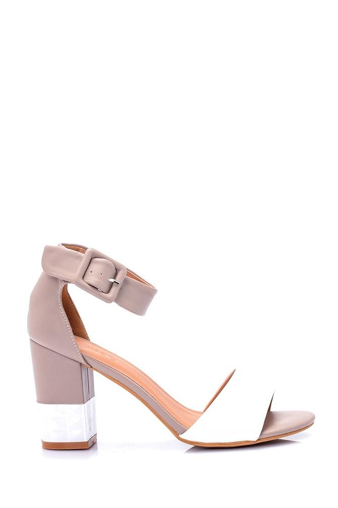 Bej Kadın Topuklu Ayakkabı 5638019584