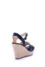 5638015838 Kadın Hasır Dolgu Topuklu Sandalet