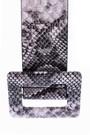 5638062378 Kadın Kroko Desenli Kemer