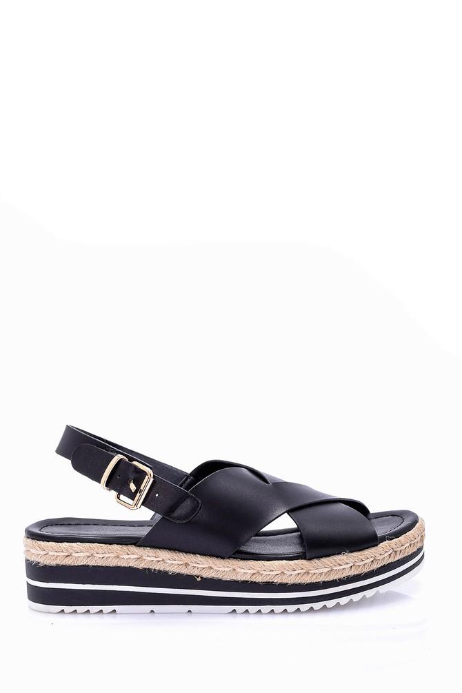5638002477 Kadın Hasır Detaylı Sandalet