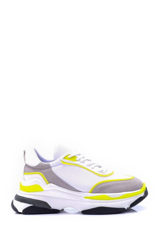 Beyaz Kadın Yüksek Tabanlı Sneaker 5638061829