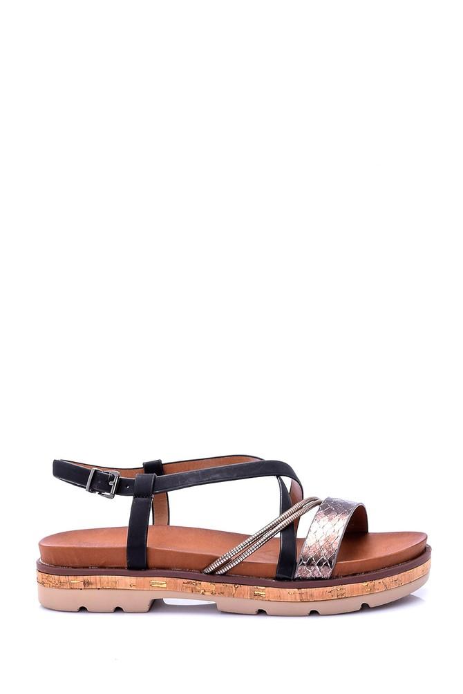 Siyah Kadın Sandalet 5638003476