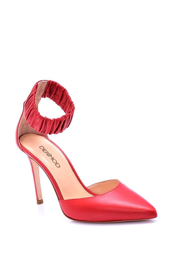 5638051299 Kadın Deri Topuklu Ayakkabı