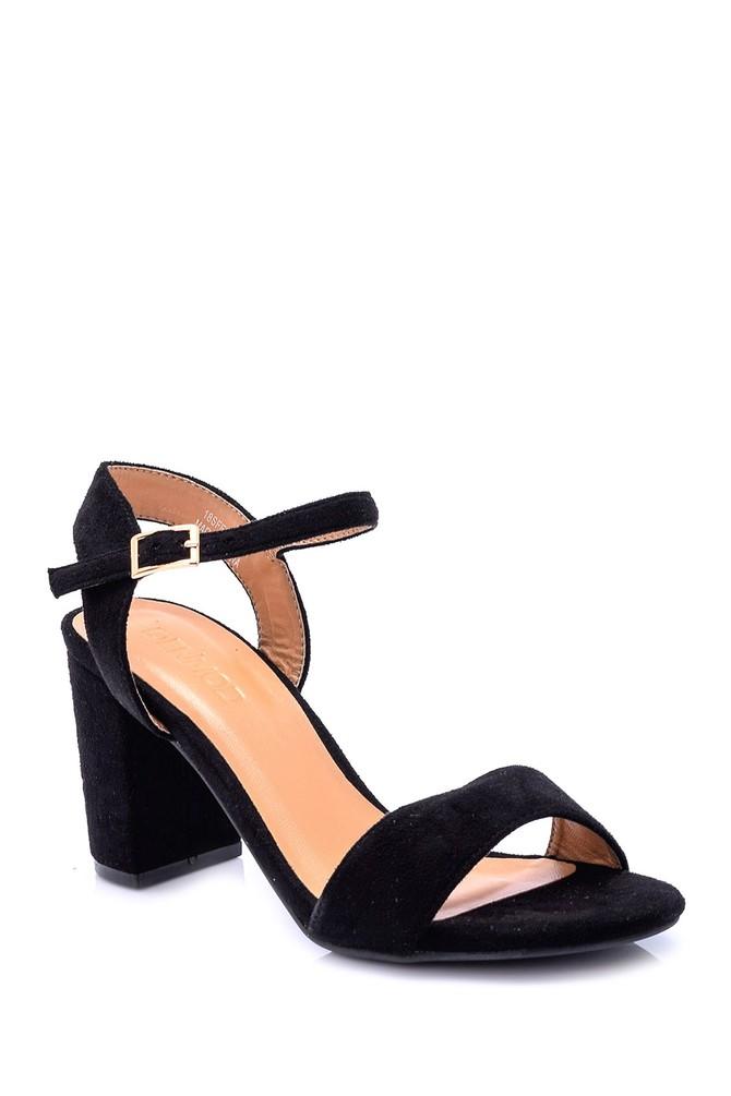 5638005765 Kadın Süet Topuklu Ayakkabı