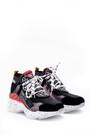 5638066035 Kadın Leopar Detaylı Sneaker