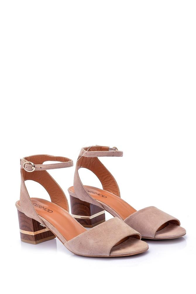5638038755 Kadın Süet Topuklu Ayakkabı