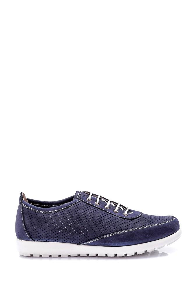 Lacivert Kadın Deri Bağcıklı Ayakkabı 5638021850