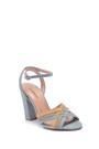 5638050883 Kadın Süet Deri Topuklu Ayakkabı