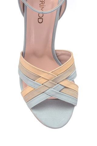 Kadın Süet Deri Topuklu Ayakkabı