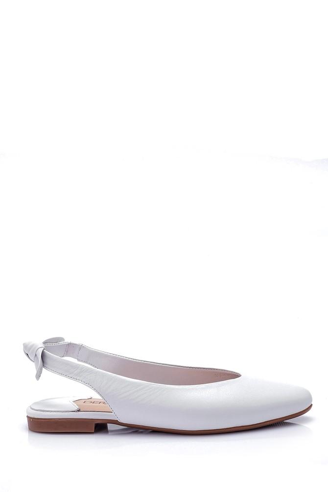 Beyaz Kadın Deri Babet 5638032347