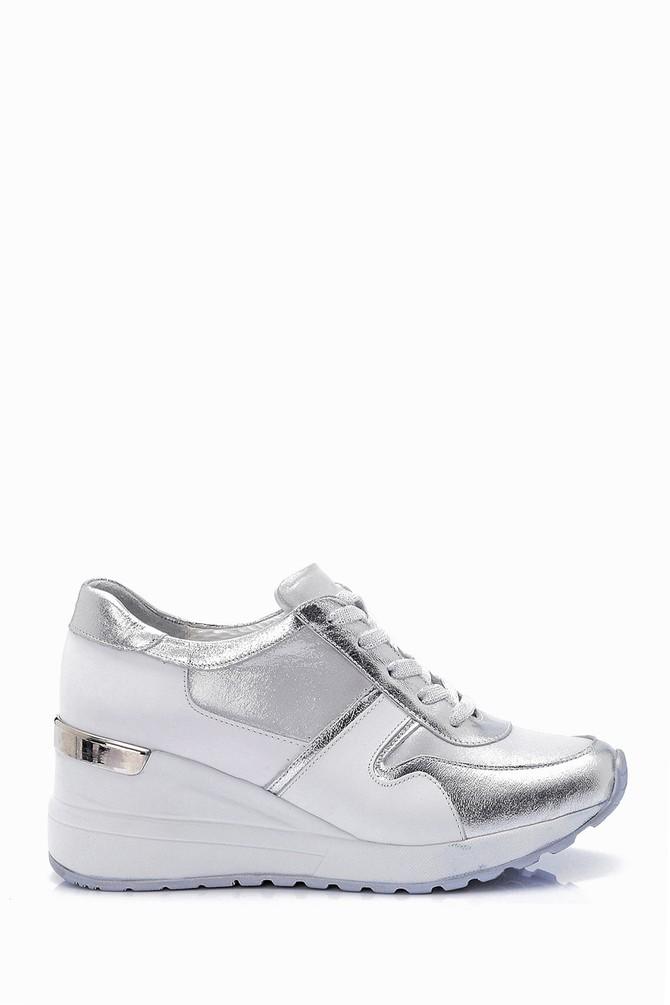Beyaz Kadın Yüksek Tabanlı Sneaker 5638062292