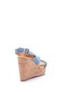 5638039007 Kadın Dolgu Topuklu Süet Sandalet