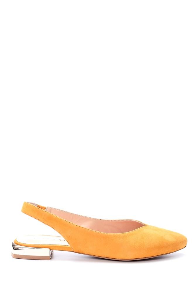 Sarı Kadın Metal Topuk Detaylı Babet 5638066007
