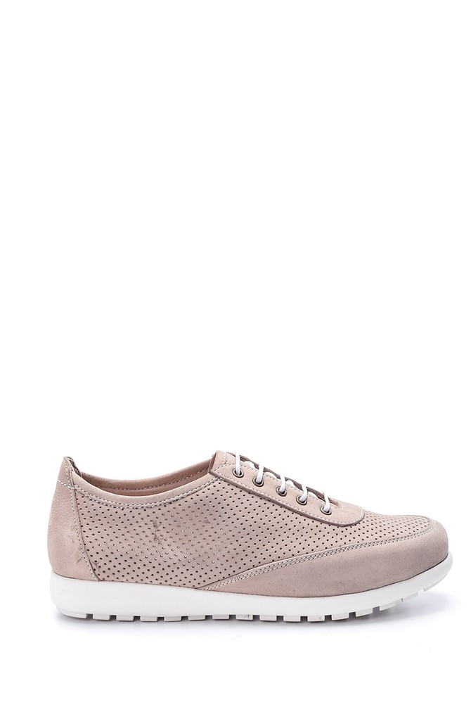 5638021856 Kadın Deri Bağcıklı Ayakkabı