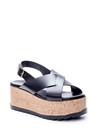 5638066016 Kadın Dolgu Topuklu Sandalet