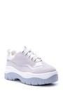 5638021007 Kadın Gümüş Detaylı Süet Sneaker