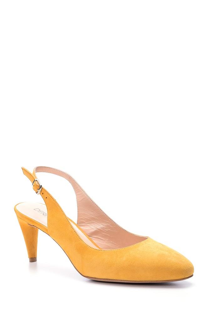 5638026320 Kadın Süet Topuklu Ayakkabı