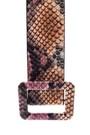 5638062412 Kadın Kroko Desenli Kemer