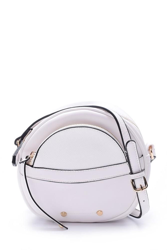 Beyaz Kadın Kroko Detaylı Çanta 5638032136