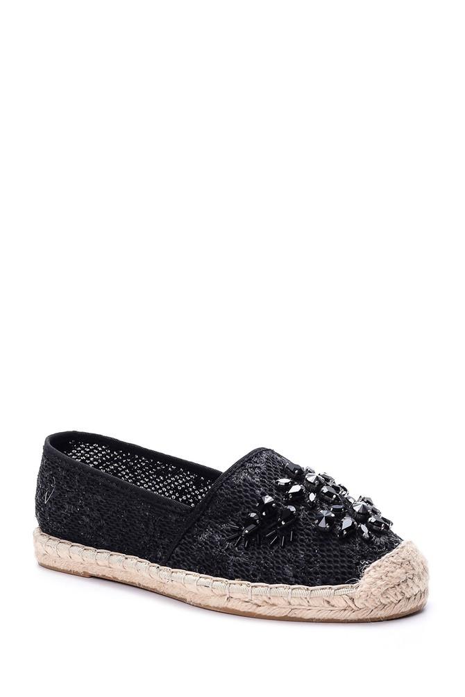 5638006134 Kadın Taşlı Espadril Ayakkabı