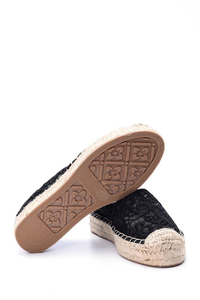 5638004313 Kadın Dantel Detaylı Espadril Ayakkabı