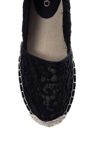 Kadın Dantel Detaylı Espadril Ayakkabı