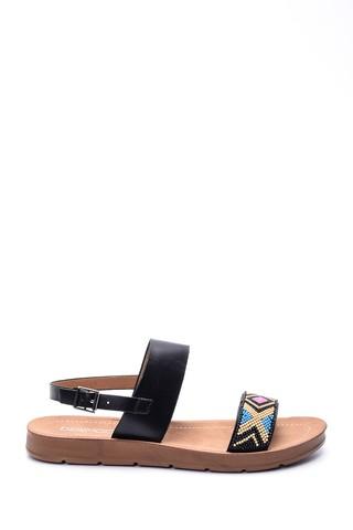 Kadın Boncuklu Sandalet