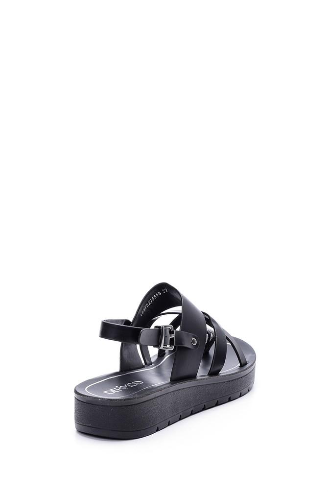 5638003737 Kadın Kroko Detaylı Sandalet