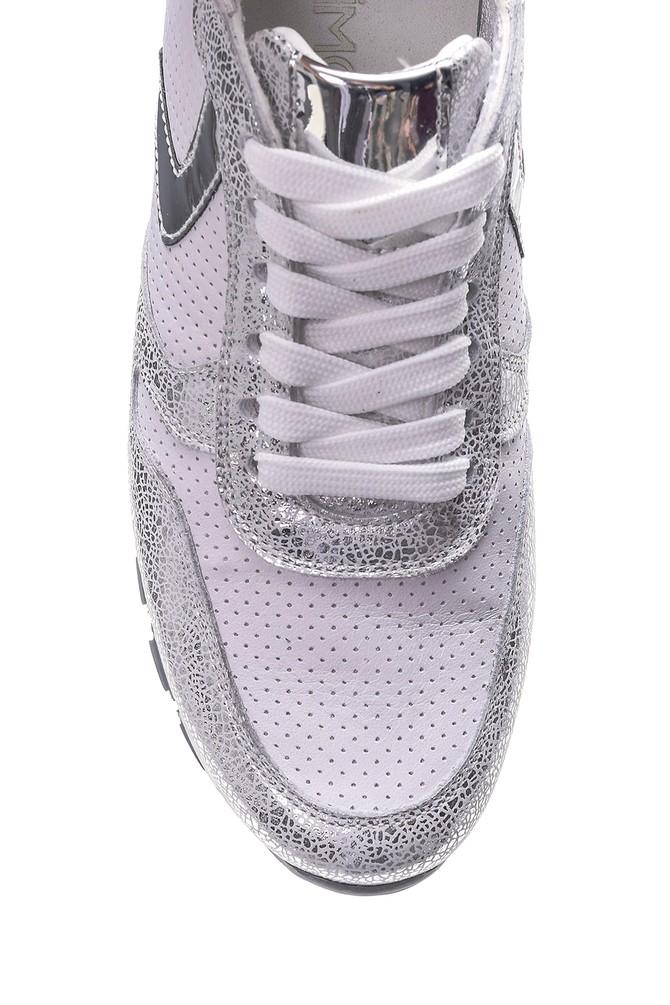 5638062309 Kadın Gümüş Detaylı Sneaker