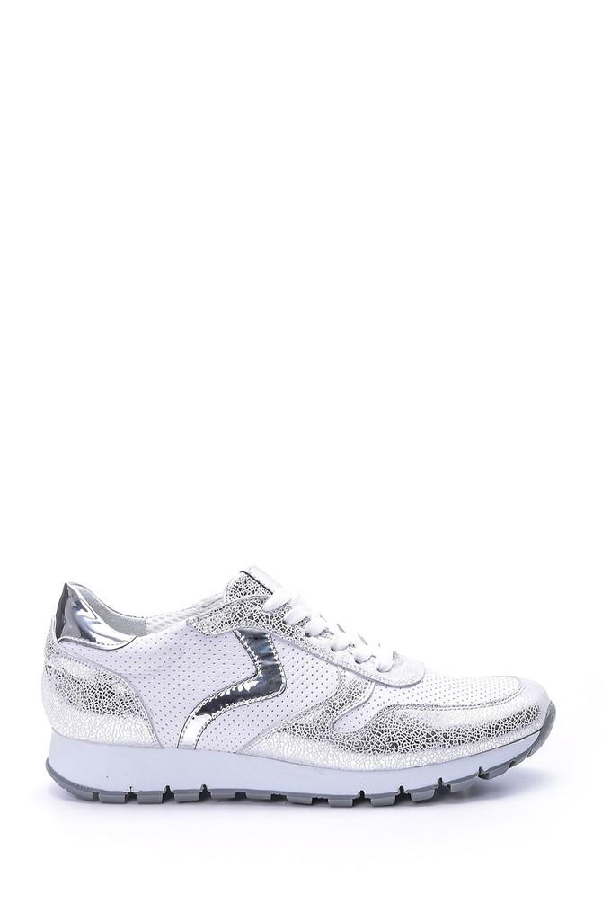 Beyaz Kadın Gümüş Detaylı Sneaker 5638062309