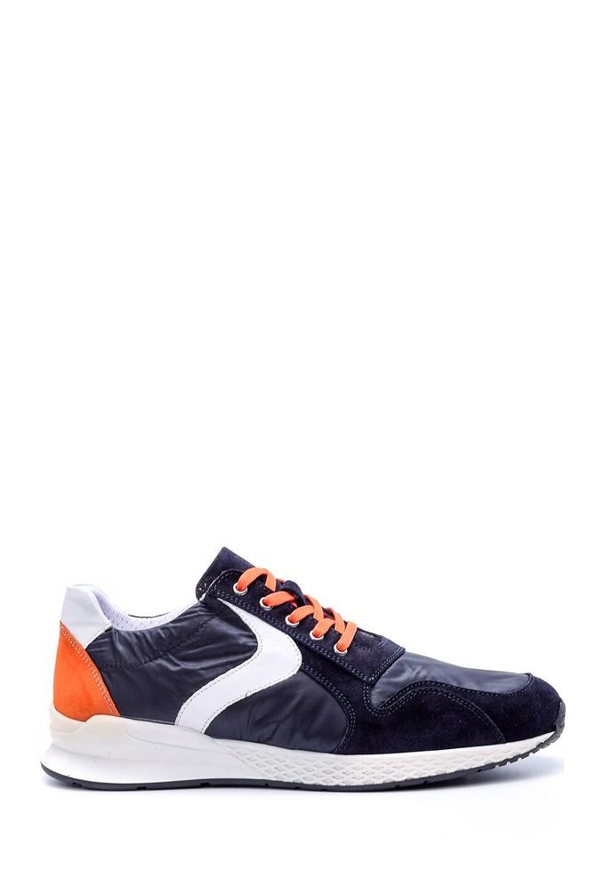 Lacivert Erkek Süet Detaylı Sneaker 5638029790