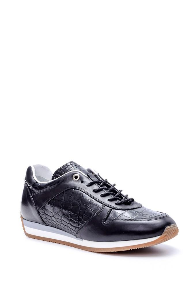 5638050816 Erkek Kroko Detaylı Sneaker
