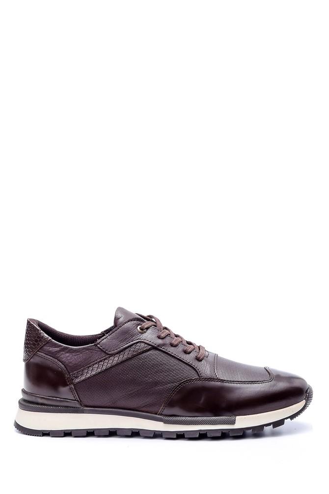 Kahverengi Erkek Kroko Detaylı Sneaker 5638072364