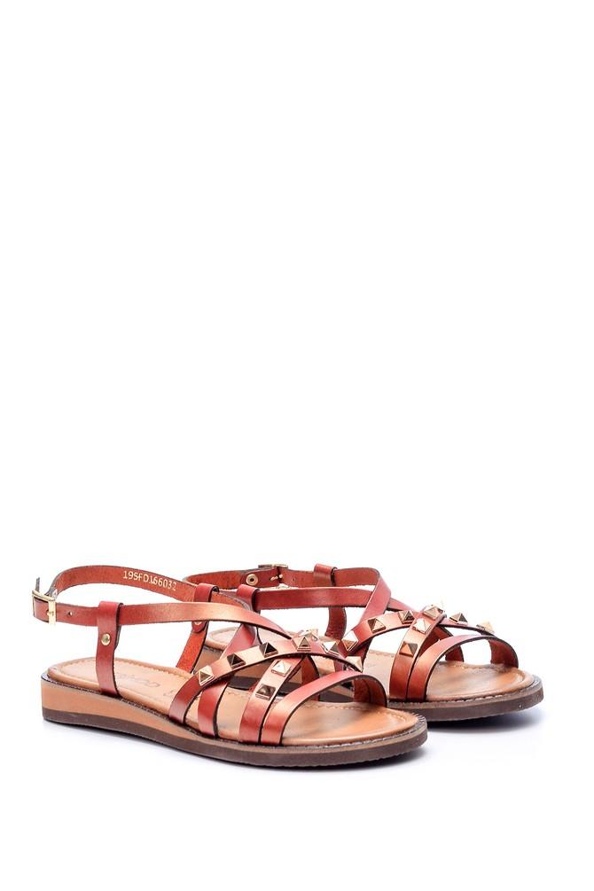 5638061871 Kadın Zımba Detaylı Sandalet