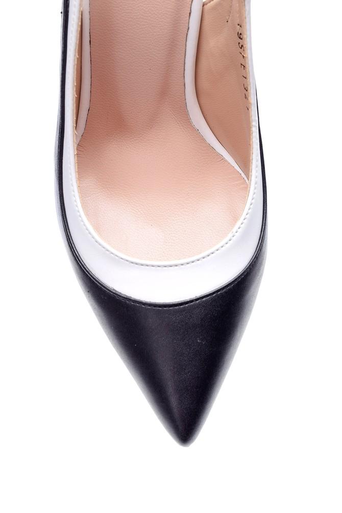 5638039582 Kadın Çift Bantlı Topuklu Ayakkabı