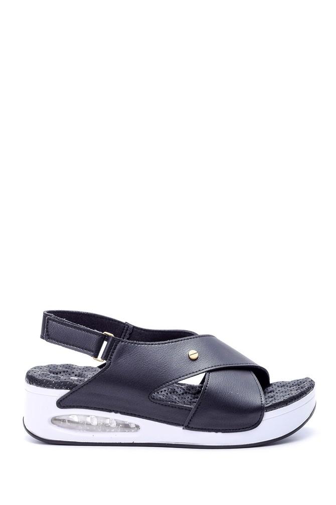 Siyah Kadın Aır Tabanlı Comfort Sandalet 5638057872