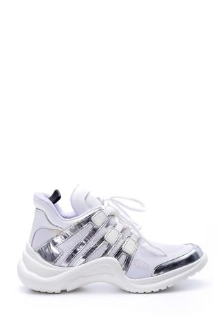 Kadın Gümüş Detaylı Sneaker