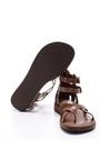 5638061981 Kadın Bilekten Bağlamalı Deri Sandalet