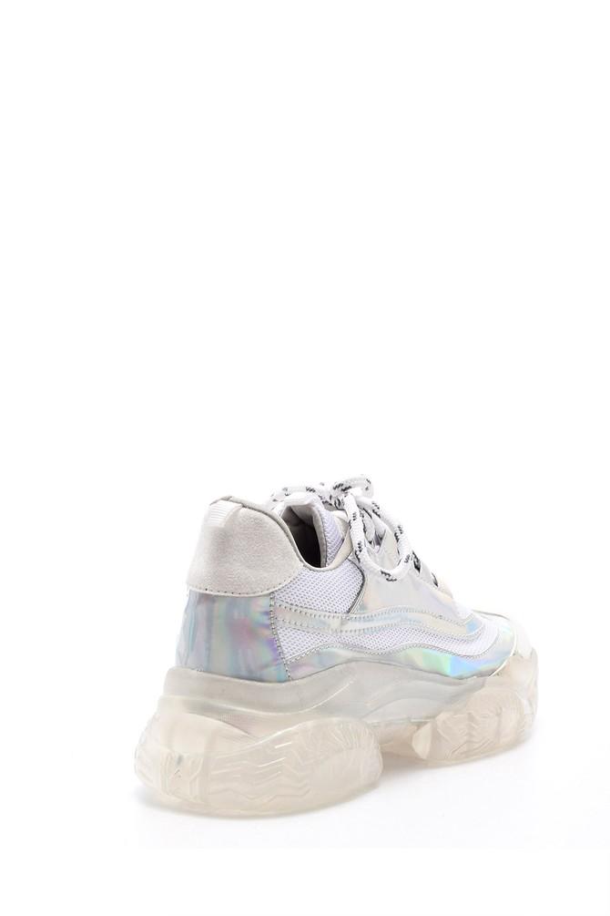 5638083664 Kadın Şeffaf Tabanlı Sneaker